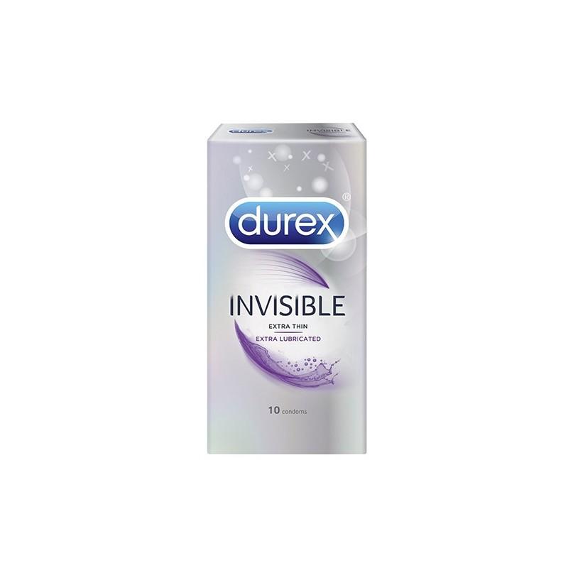 Durex Invisible Extra Lubricate 10tk