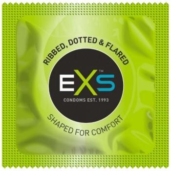 EXS ribbed & dotted kondoomid